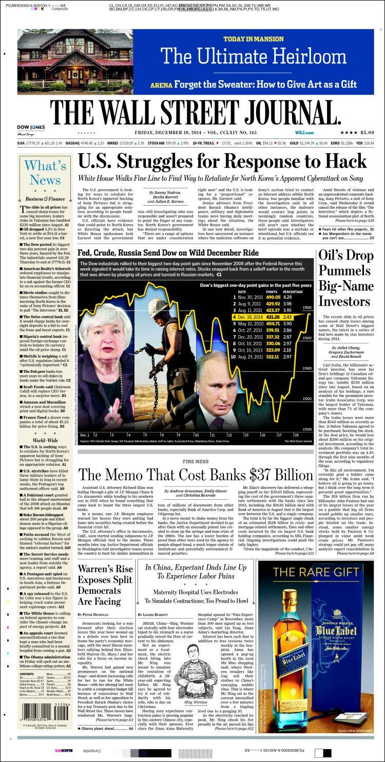 wall street journal Wall street journal news and opinion wall street journal news and opinion breaking news tap here to turn on desktop notifications to get the news sent straight to you.