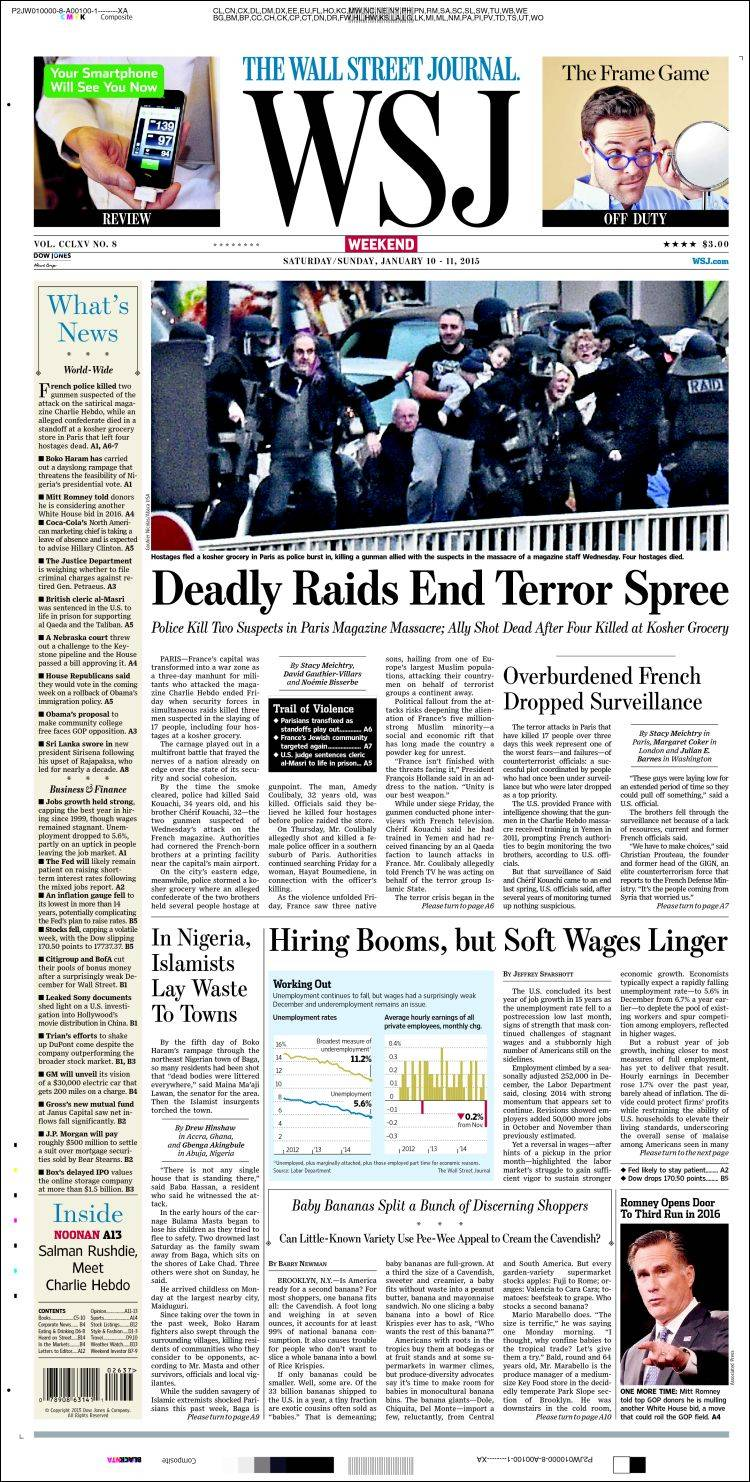 wsj saturday essay Complete the form below to provide us with your preference for saturday delivery of your wall street journal subscription.